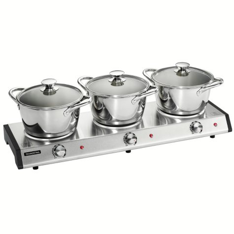 Tramontina 7-Piece Triple-Hob Electric Buffet Warmer