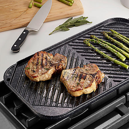 Reversible Double Burner Grill-Griddle (Assorted Colors)