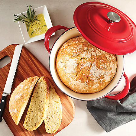 Tramontina Enameled Cast Iron 7-Qt. Covered Round Dutch Oven (Assorted Colors)