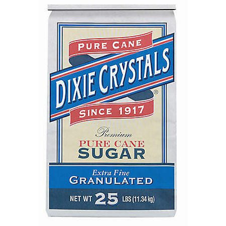 Dixie Extra Fine Granulated Sugar - 25 lbs.