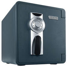 First Alert - 2087F Waterproof 1 Hour Fire Safe with Combination Lock, 0.94 Cubic Foot, Gray