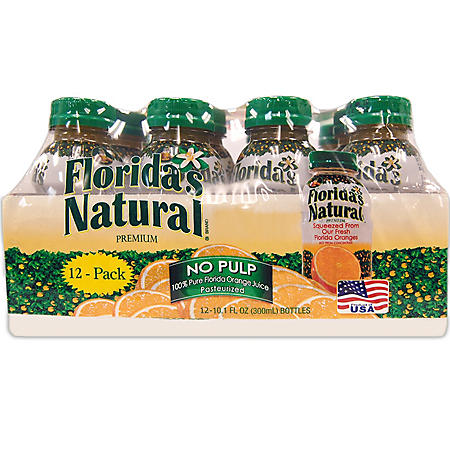Florida's Natural Orange Juice - 10.1 fl. oz. bottles - 12 pk.