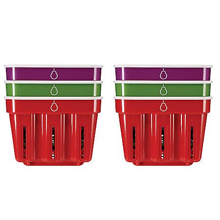 Crisp Berry Baskets, Set of 6 (Various colors)