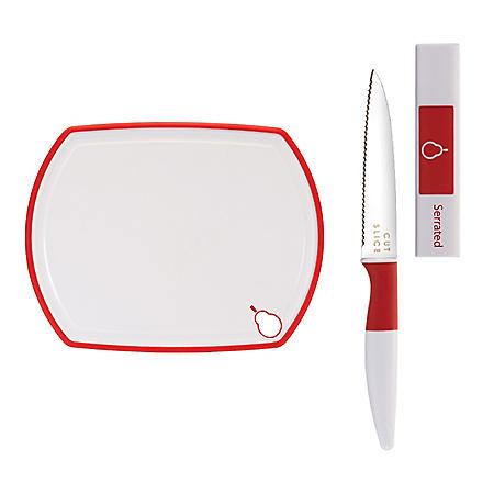 Crisp Paring Knife and Cutting Board, 2-Piece Set