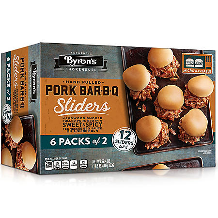 Byron's Pork Bar-B-Q Sliders, Sweet and Spicy (12 ct.)