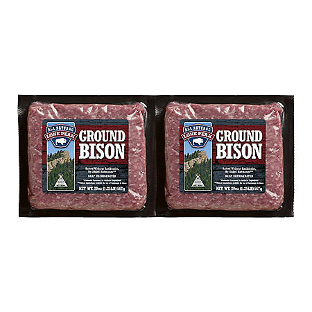 Lone Peak Antibiotic-Free Ground Bison (40 oz.)