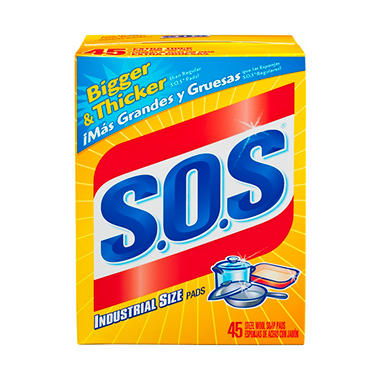 S.O.S Steel Wool Soap Pads Extra Thick (45 Count)
