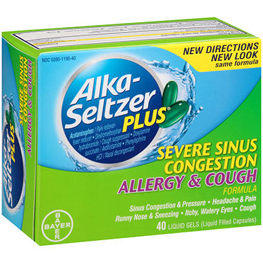 Alka-Seltzer Plus Severe Sinus Congestion Allergy and Cough - 40 ct.