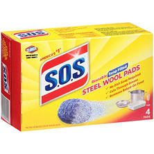 S.O.S Reusable Soap-Filled Steel Wool Cleaning Pads (4 ct.)