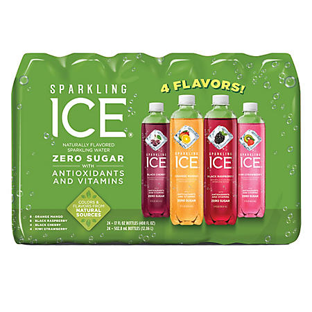 Sparkling Ice Fruit Blasters, Variety Pack (17 fl. oz. bottle, 24 ct.)