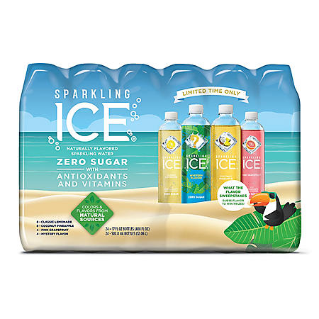 Sparkling Ice Summer Variety Pack (17 fl. oz., 24 pk.)