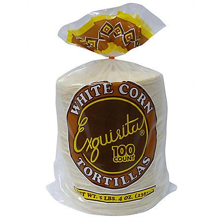 Exquisita White Corn Tortillas (100 ct.)