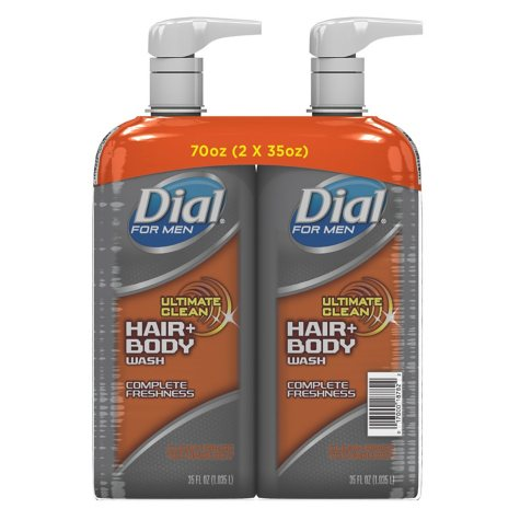Dial for Men Ultimate Clean Hair + Body Wash, Ultimate Clean (35 fl. oz., 2 pk.)