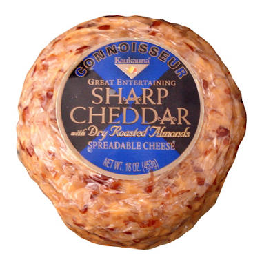 Connoisseur Sharp Cheddar with Dry Roasted Almonds Cheese Ball - 16 oz.