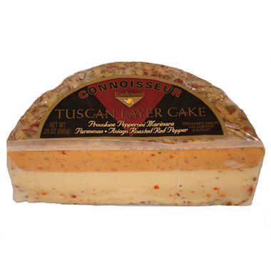 Connoisseur Tuscan Layer Cake Spreadable Cheese - 21 oz.