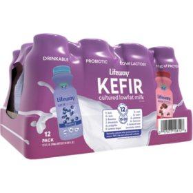 Lifeway Kefir Low-Fat Milk Smoothie, Variety Pack (8 oz., 12 pk.)