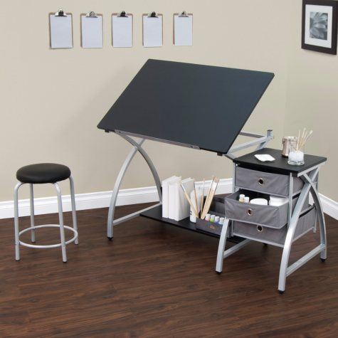 Comet Draw/Craft Center with Stool
