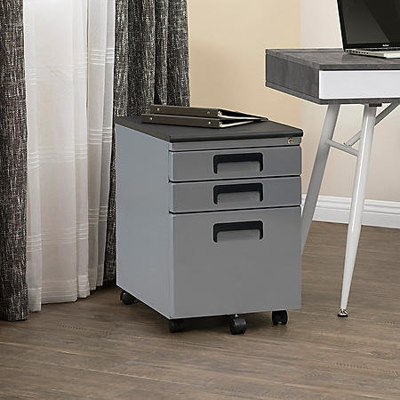 3-Drawer File Cabinet (Assorted Colors)