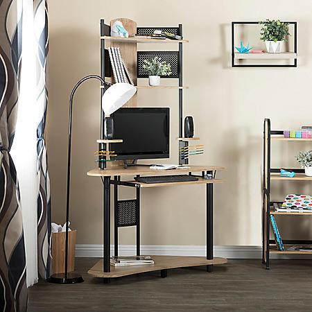 Calico Designs Arch Corner Computer Desk with Hutch (Assorted Colors)