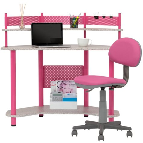 Corner Desk with Task Chair (Assorted Colors)