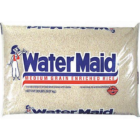 Water Maid Medium Grain Rice (20 lbs.)