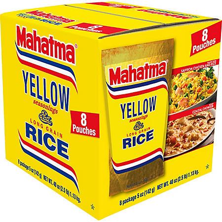Mahatma Mixes Saffron Yellow Seasonings and Long Grain Rice (5 oz., 8 pk.)