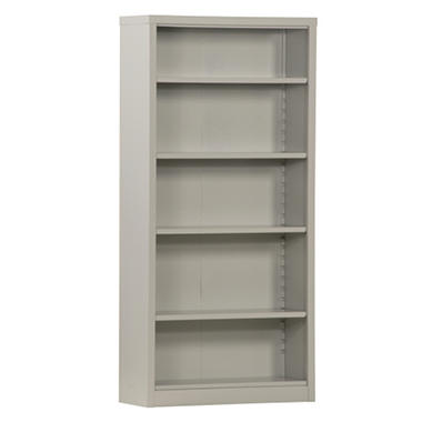 Sandusky Quick Assembly Steel Color Bookcase - Dove Gray - 34.5