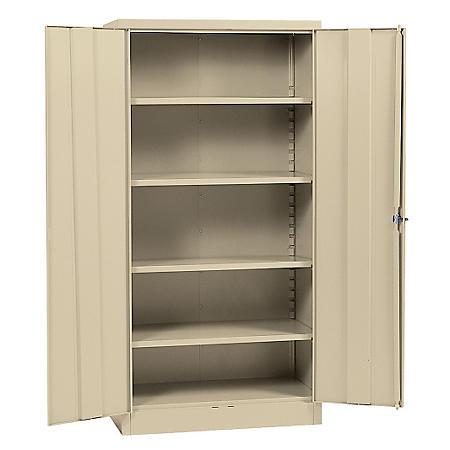 "Sandusky Quick Assembly Steel Storage Cabinet - Light Grey (36""W x 18""D x 72""H)"