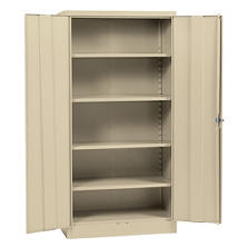 "Sandusky Quick Assembly Steel Storage Cabinet - Light Grey (36""W x 18""D x 72""H)"