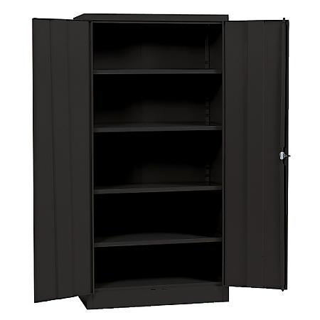 "Sandusky Black Quick Assembly Steel Storage Cabinet (36""W x 18""D x 72""H)"