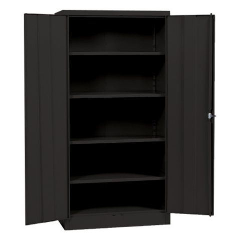 "Sandusky Black Quick Assembly Steel Storage Cabinet (36""W x 18""D x 72""H)"