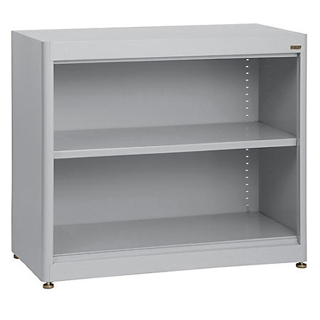 2-Shelf Radius Edge Steel Stationary Bookcase (Assorted Colors)