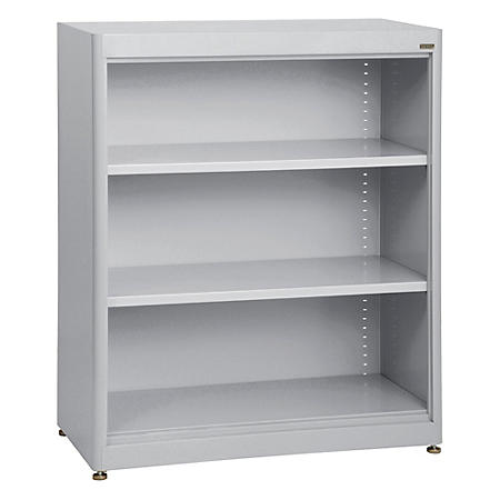 3-Shelf Radius Edge Steel Stationary Bookcase (Assorted Colors)