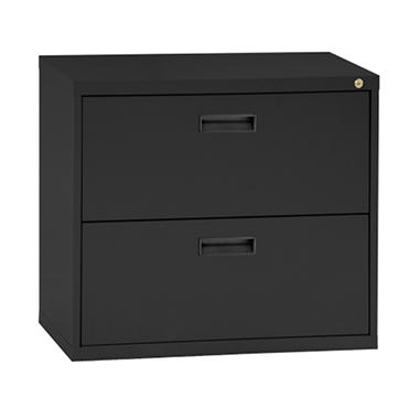 "sandusky 30"" 2-drawer lateral file cabinet, select color (letter 2 drawer lateral file cabinet"