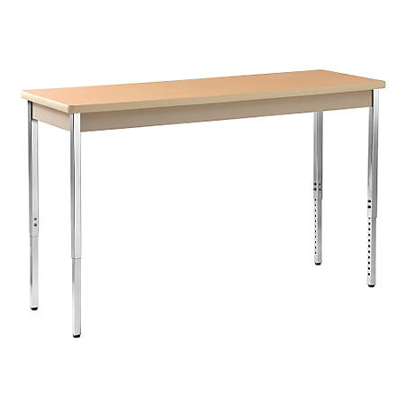 "Sandusky Heavy Duty Steel Meeting/Activity Table - 60""W x 20""D x 24-36""H"