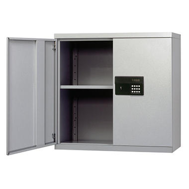 Sandusky Keyless Electronic Dove Gray Color Wall Cabinet - 30