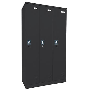 Sandusky Quick Assembly Triple Wide Locker - Black (72