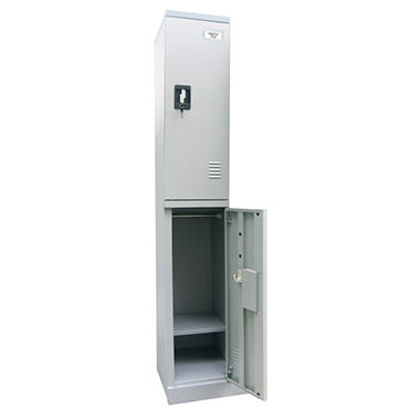Sandusky Quick Assembly Double Tier Locker - Dove Gray - 72