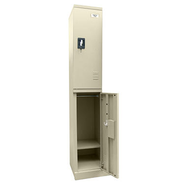 Sandusky Quick Assembly Double Tier Locker - Putty - 72