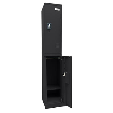 Sandusky Quick Assembly Double Tier Locker - Black (72