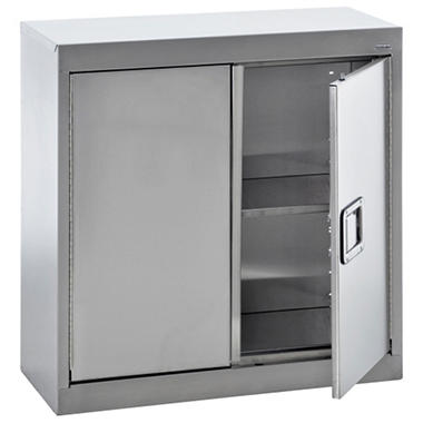 Sandusky Stainless Steel Paddle Lock Wall Storage Cabinet - 30