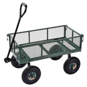 "Sandusky Heavy-Duty Steel Utility Crate Wagon - 34"" x 18"""
