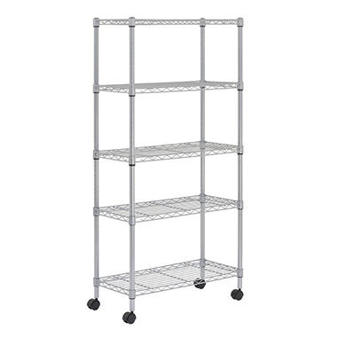 Sandusky Heavy Duty 5-Level Wire Shelving Unit - Silver (30