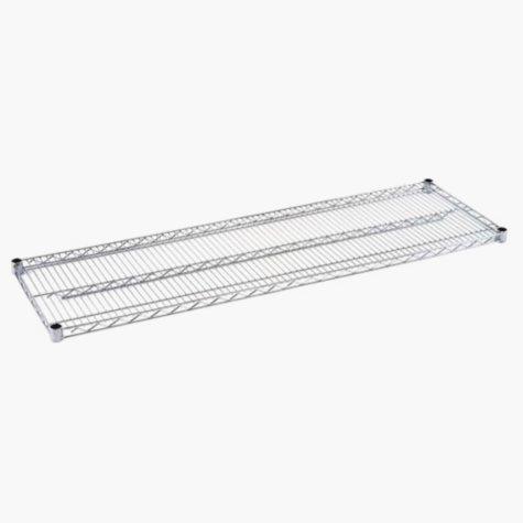 Sandusky 60 in. W x 18 in. D Steel Wire Shelf in Chrome