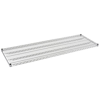 Sandusky 72 in. W x 18 in. D Steel Wire Shelf in Chrome