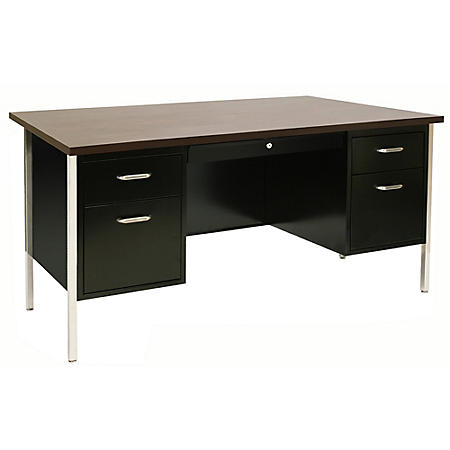 500 Series Double Pedestal Desk (Assorted Colors)
