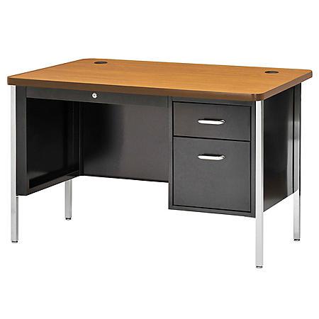 "600 Series 29.5""H x 48""W x 30""D Single Pedestal Steel Desk (Assorted Colors)"