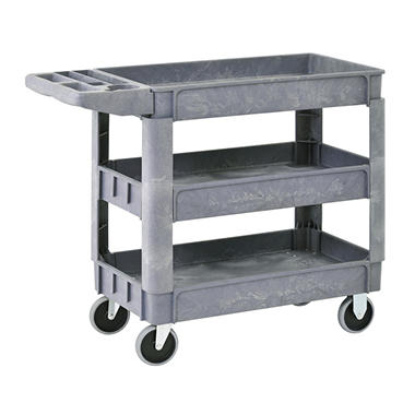 Sandusky 3-Shelf Plastic Utility Cart with 5