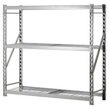 Heavy Duty 3-Level Welded Steel Treadplate Rack with Wire Shelves