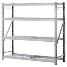 Muscle Rack Heavy-Duty 4-Level Welded Steel Treadplate Rack with Wire Shelves